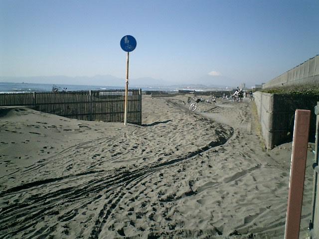 041127辻堂海岸砂まみれ